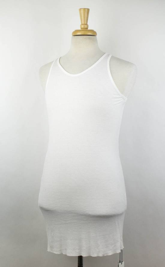 Julius 7 White Silk Blend Long Ribbed Tank Top T-Shirt Size 4/L Size US L / EU 52-54 / 3 - 1
