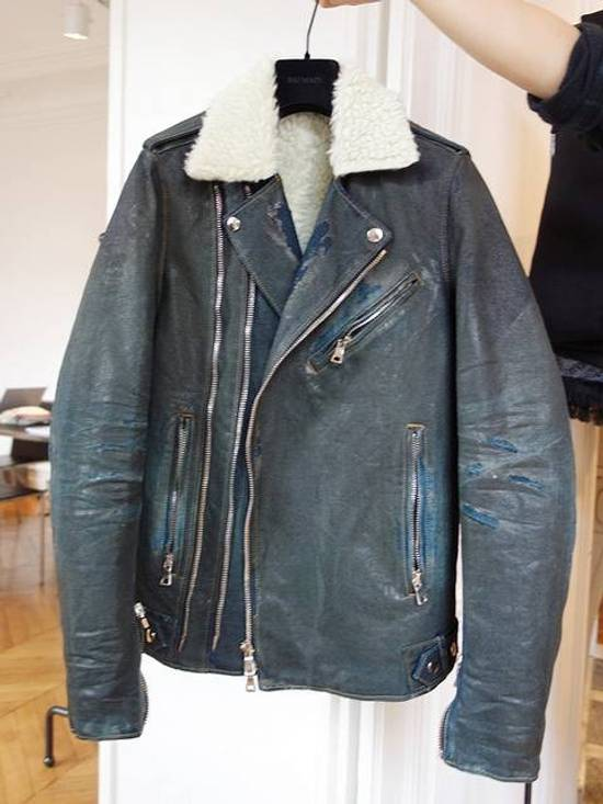 Balmain AW15 Destroyed shearling jacket Size US M / EU 48-50 / 2