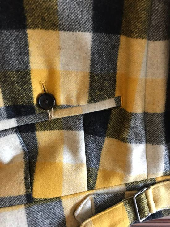Thom Browne Black Fleece Yellow Plaid Trousers In Thick Wool Size US 30 / EU 46 - 3