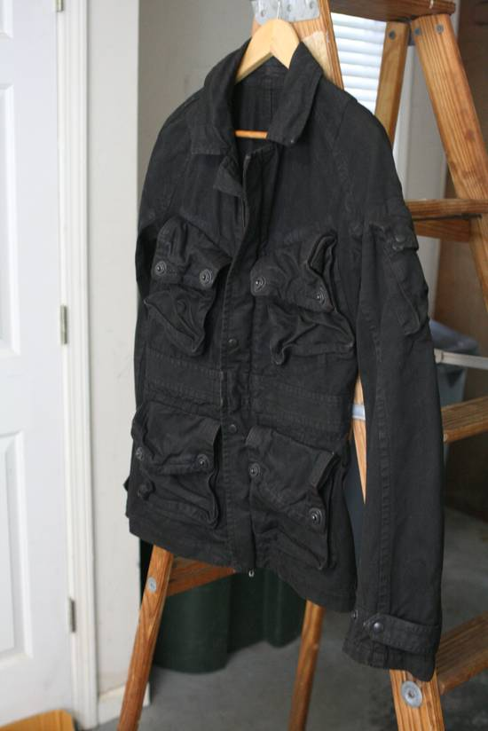 Julius Coated Black Gasmask Cargo Jacket Size US S / EU 44-46 / 1 - 1