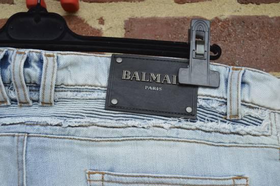 Balmain Balmain Blue Ribbed Biker Jeans Size US 31 - 8
