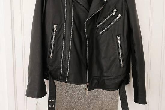 Balmain AW15 black leather biker jacket Size US L / EU 52-54 / 3 - 4