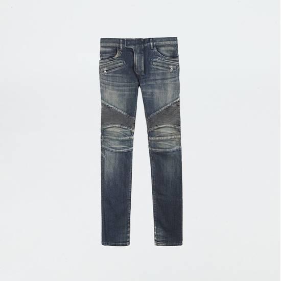 Balmain Classic Blue Denim BIKER RARE Jeans Size US 28 / EU 44