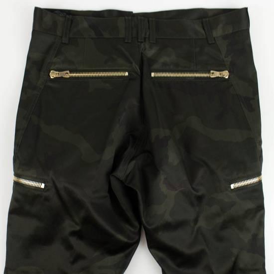 Balmain Men's Green Cotton Blend Camouflage Biker Pants Size L Size US 36 / EU 52 - 6
