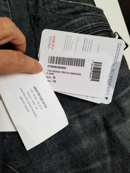 Balmain Balmain Biker Grey Washed Jeans Size 29 Size US 29 - 3