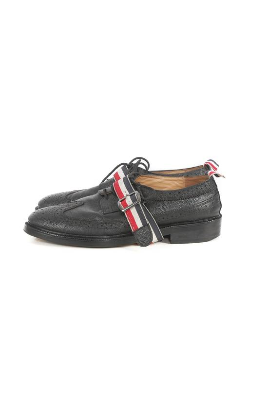 Thom Browne Thom Browne Black Leather Monk Strap Wingtip Shoes Size US 10 / EU 43 - 2