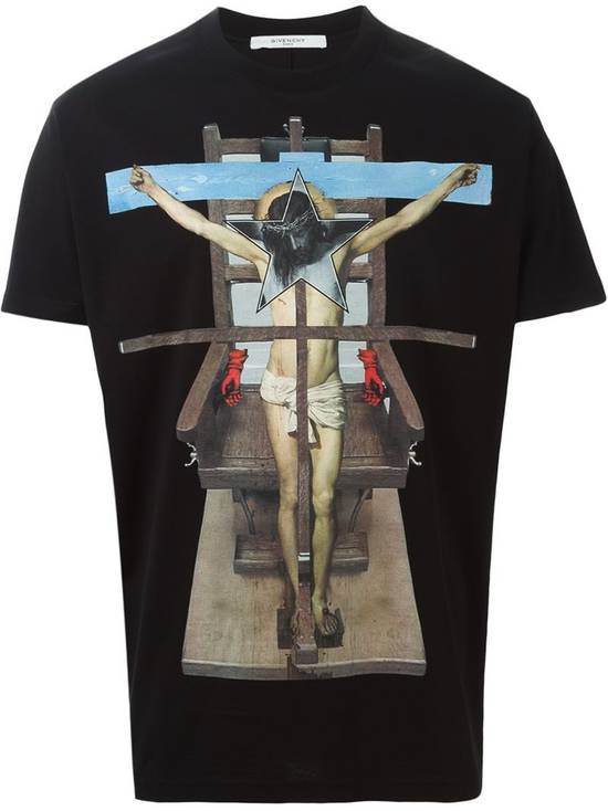 Givenchy Jesus Cross Print T-shirt Size US M / EU 48-50 / 2 - 1