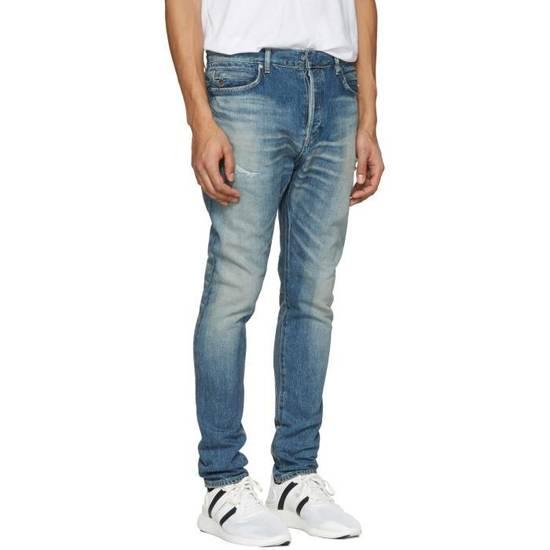 Balmain Blue Distressed Low Rise Jeans Size US 27 - 1