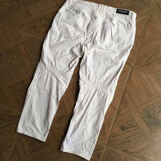 Balmain Balmain White Biker Pants Size US 36 / EU 52