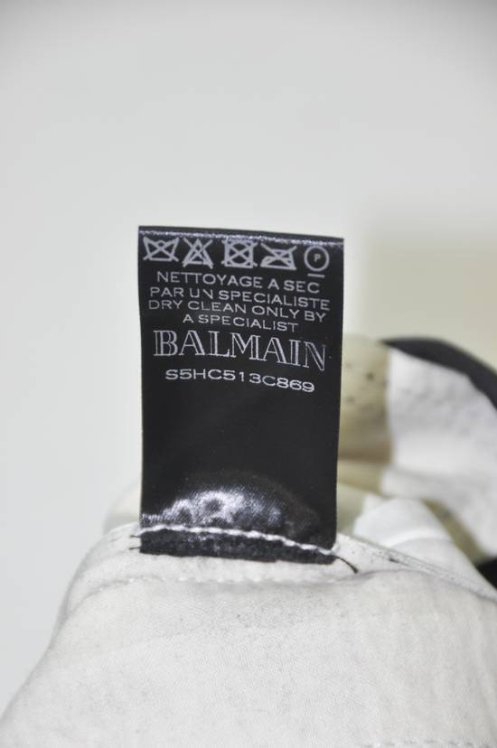 Balmain Balmain Men's Black Biker Style Nappa Leather Trousers Size US 32 / EU 48 - 5