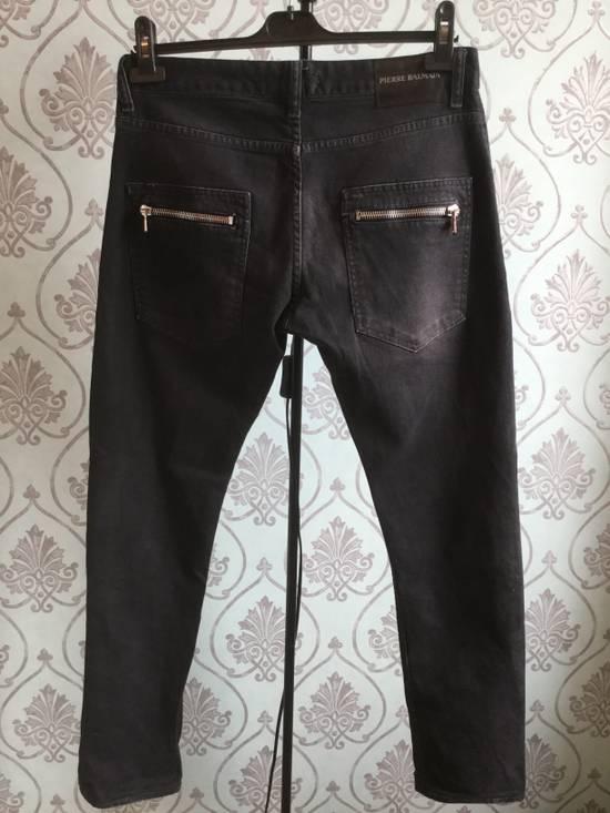 Balmain ARCHIVE Pierre Balmain biker destroyed slim jeans Size US 32 / EU 48 - 2