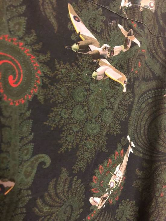 Givenchy Green/Navy Paisley Airplane Print Shirt Size US M / EU 48-50 / 2 - 8