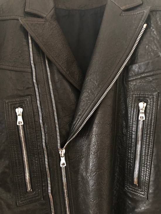 Balmain Leather Biker Jacket Size US L / EU 52-54 / 3 - 1