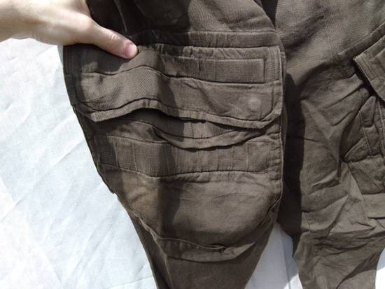 Julius Green Linen Blend Gas Mask Cargo Pants Size US 30 / EU 46 - 4