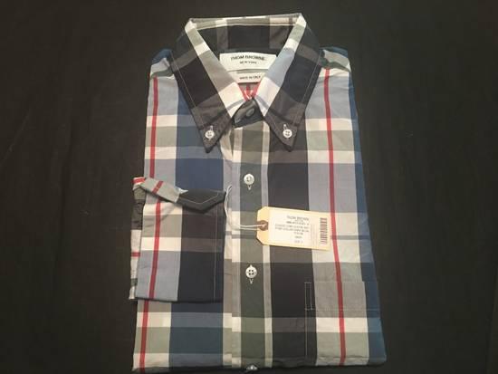 Thom Browne Large Madras Check Poplin Cotton Shirt Size US M / EU 48-50 / 2