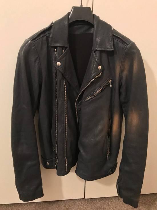 Balmain Navy Balmain Leather Jacket Size US S / EU 44-46 / 1