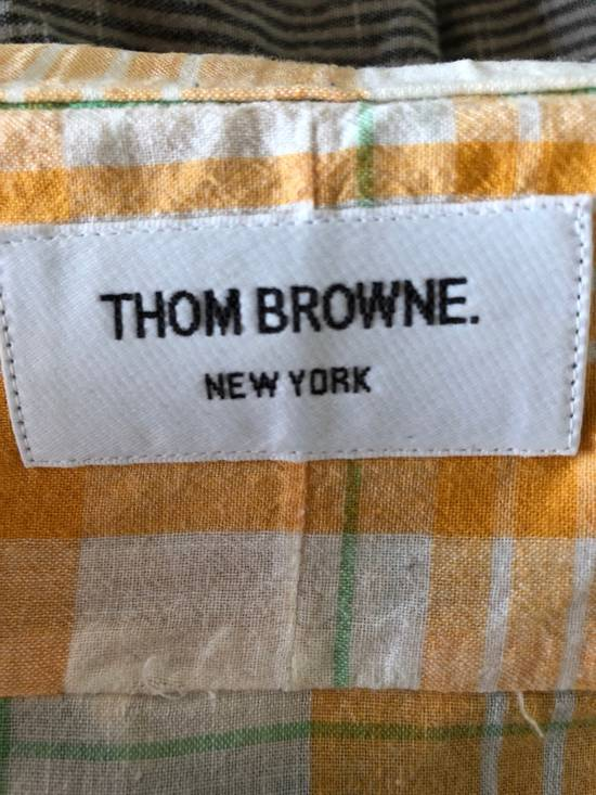 Thom Browne LAST DAY: Yellow Checked Shirt Size US S / EU 44-46 / 1 - 3