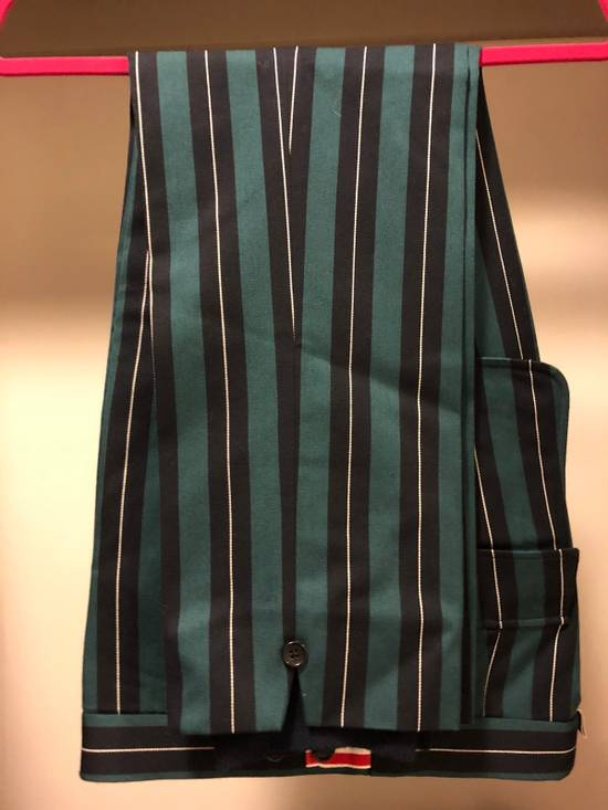 Thom Browne Thom Browne Pinstripe Trousers With Flappy Back Pockets And Cashmere Leg Warmer Size US 30 / EU 46 - 4