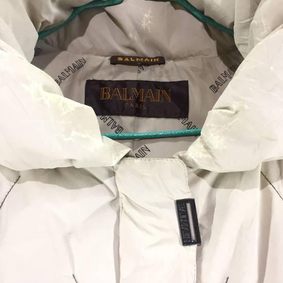 Balmain LUXURY!! BALMAIN Paris Monogram Down Jacket Puffer Jacket / Fall & Winter Hypebeast Jacket / Balmain Raincoat Size US L / EU 52-54 / 3 - 5