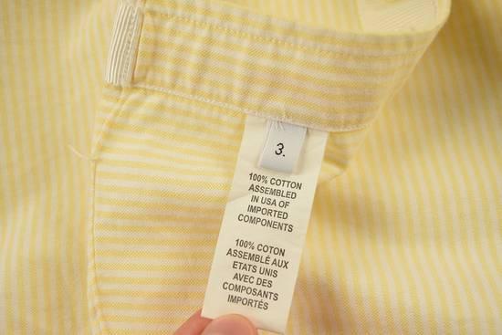 Thom Browne White Grossgrain, Yellow Stripe Oxford Size US L / EU 52-54 / 3 - 11