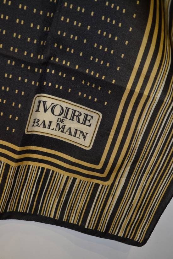 Balmain Balmain Black and Gold Scarf Pierre Ivoire De Balmain Luxury Rare Piece Size ONE SIZE - 1