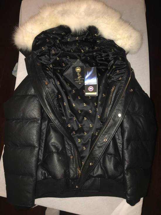Canada Goose OVO Canada Goose 2011 Leather 24k Gold Fur Bomber Jacket Size US XL / EU 56 / 4 - 6
