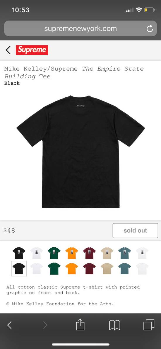 be60f1291d5c Supreme Supreme x Mike Kelley Empire State Tee Size xl - Short ...