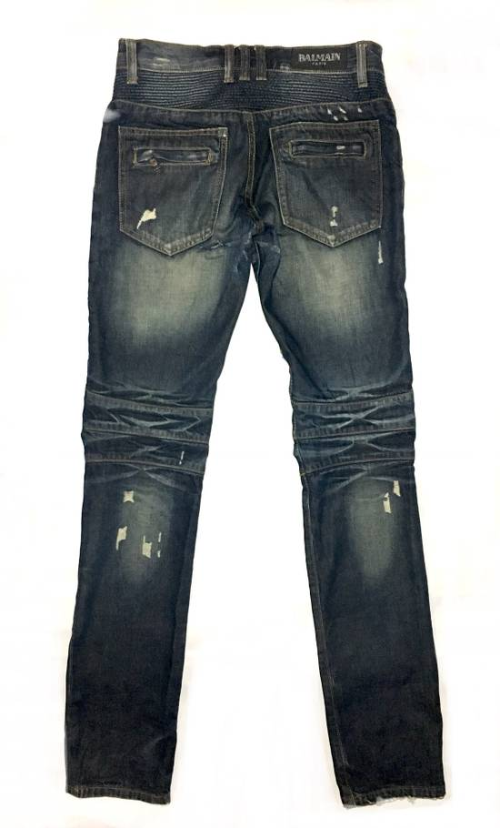 Balmain BALMAIN DISTRESSED BIKER JEANS. REFERENCE MODEL T511-B317 Size US 30 / EU 46 - 1