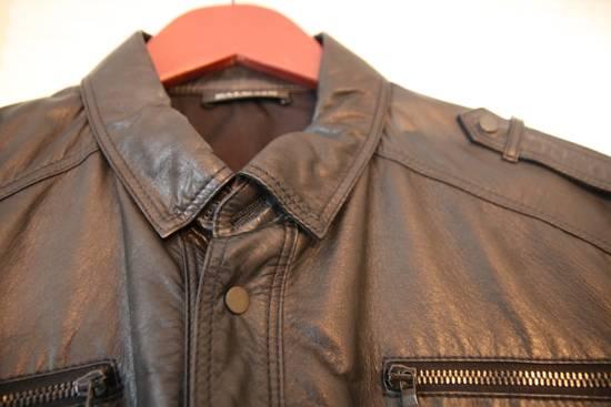 Balmain Balmain mens leather short sleeve shirt in sz 41 Size US M / EU 48-50 / 2 - 1
