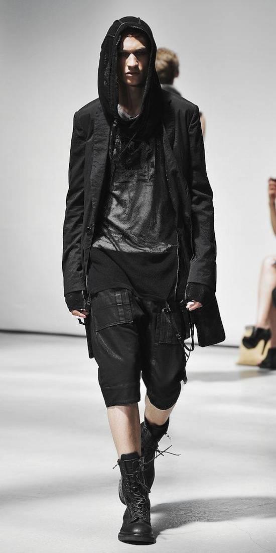 Julius SS11 Black Skirted Tech Blazer Jacket Size US M / EU 48-50 / 2 - 5