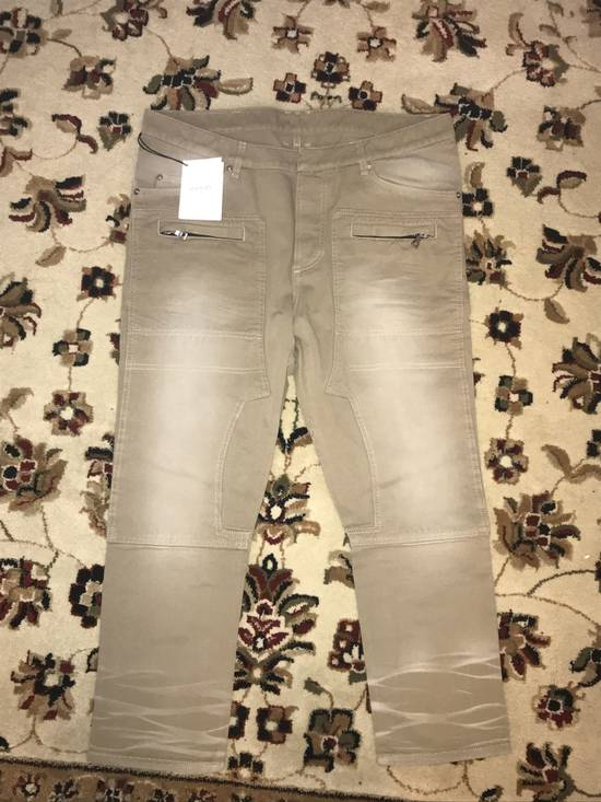 Balmain Cropped Tan Jeans Size US 31 - 1