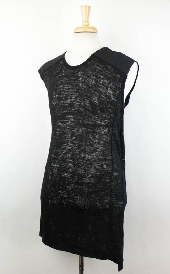 Julius MA_JULIUS Black Rayon Blend Sleeveless Long Crewneck T-Shirt Size 3/M Size US M / EU 48-50 / 2 - 1