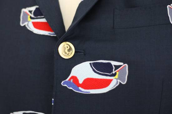 Thom Browne Navy jacket with fish embroideries Size 46R - 4