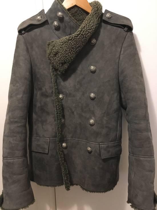 Balmain Shearling Military Coat Size US S / EU 44-46 / 1 - 5
