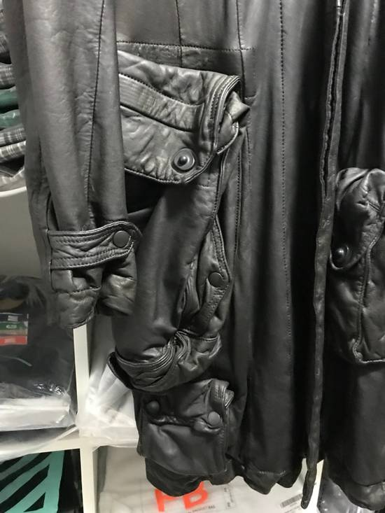Julius Julius Gasmask Leather Coat Size US XS / EU 42 / 0 - 3