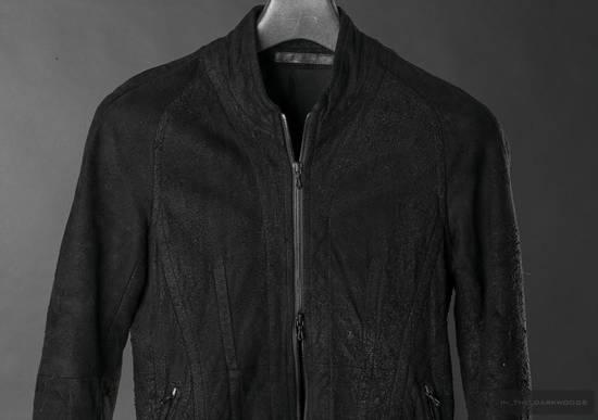 Julius = last drop = distressed lamb leather colarles jacket Size US M / EU 48-50 / 2 - 1
