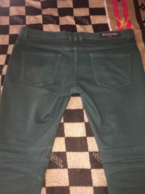 Balmain FINAL DROP!!! Green Biker Balmain Jeans Size US 34 / EU 50 - 5