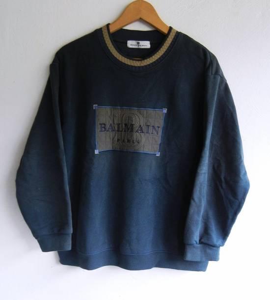 Balmain [NEED IT GONE BY TODAY] 90s Pierre Balmain Retro Green Sweatshirt Medium sz Size US M / EU 48-50 / 2 - 5