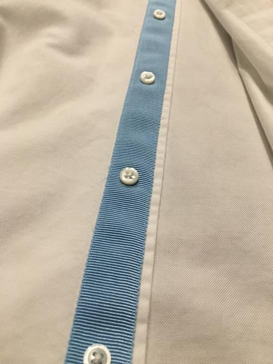 Thom Browne White poplin, baby blue grosgrain placket Size US XL / EU 56 / 4 - 2