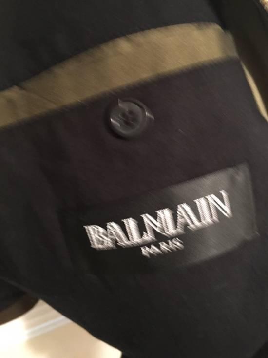 Balmain Olive Silk Bomber Size US M / EU 48-50 / 2 - 2