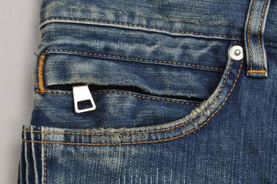 Balmain Distressed Slim Fit Skinny Blue Jeans Size US 31 - 4