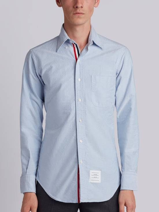 Thom Browne classic shirt with grosgrain placket in blue oxford Size US XS / EU 42 / 0 - 2