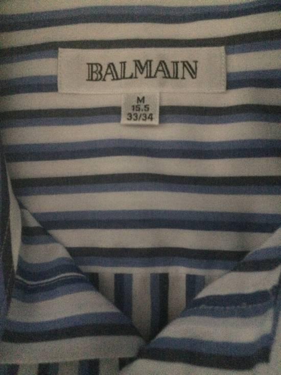 Balmain Blue Double Stripe Balmain Dress Shirt Size US M / EU 48-50 / 2 - 1