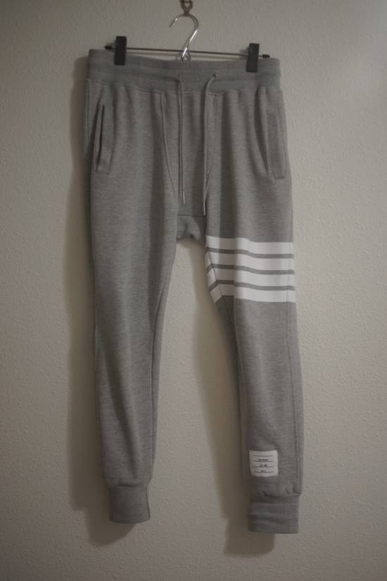 Thom Browne Iconic Cotton Four Stripe Bar Jogger Size US 30 / EU 46