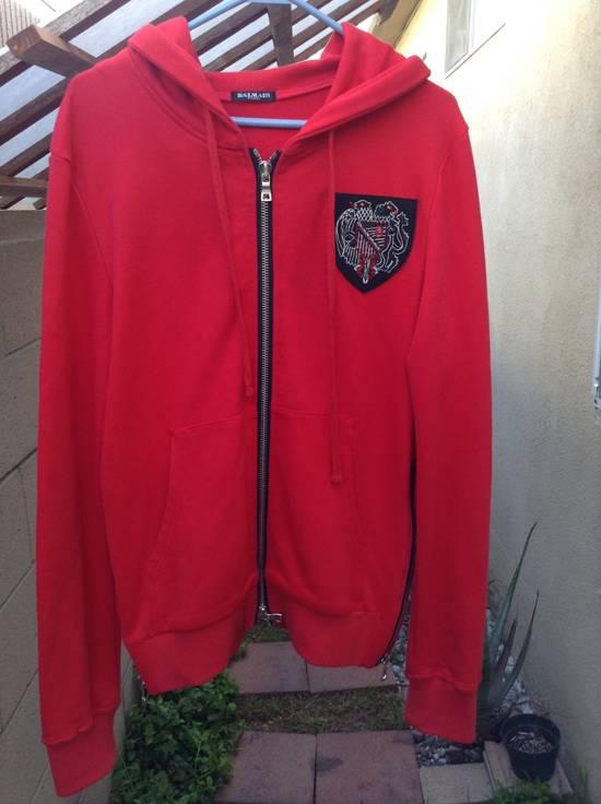Balmain Dragon Crest Side Zip hoodie Red Size US M / EU 48-50 / 2