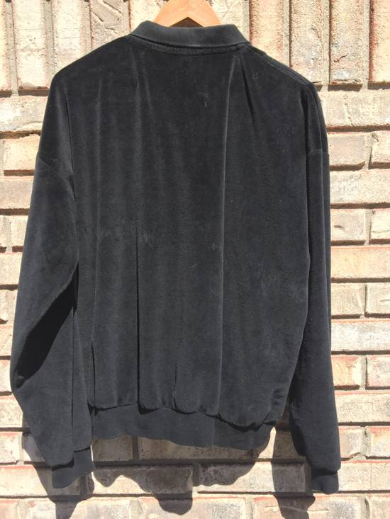 Givenchy Givenchy Monsieur Vintage Black Velour Sweatshirt Tracksuit Top Collared Button Pullover Ribbed XL 1980s 1990s Rugby Size US XL / EU 56 / 4 - 4