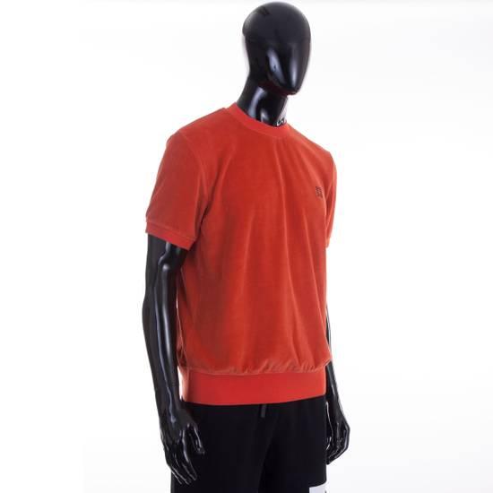 Givenchy Orange Men's Velour Crewneck T-Shirt With 4G Chest Logo Size US M / EU 48-50 / 2 - 4