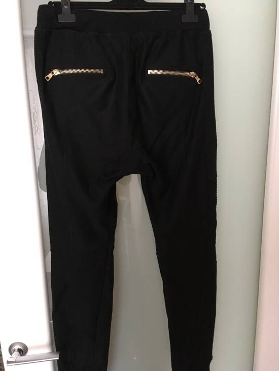 Balmain Slim-fit Taped Cotton- Jersey biker Swetpants Size US 31 - 5