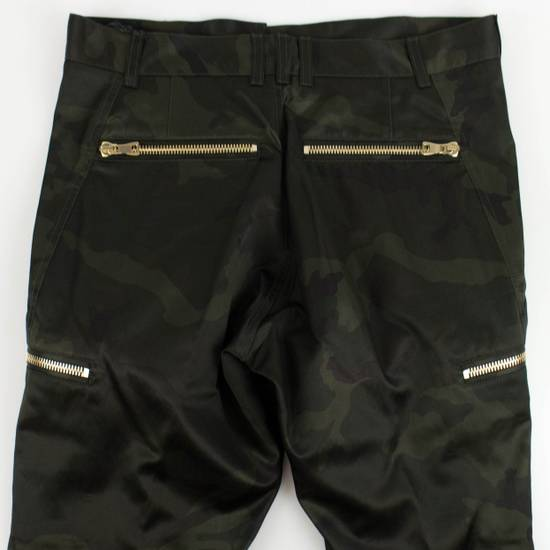 Balmain Men's Green Cotton Blend Camouflage Biker Pants Size S Size US 32 / EU 48 - 6