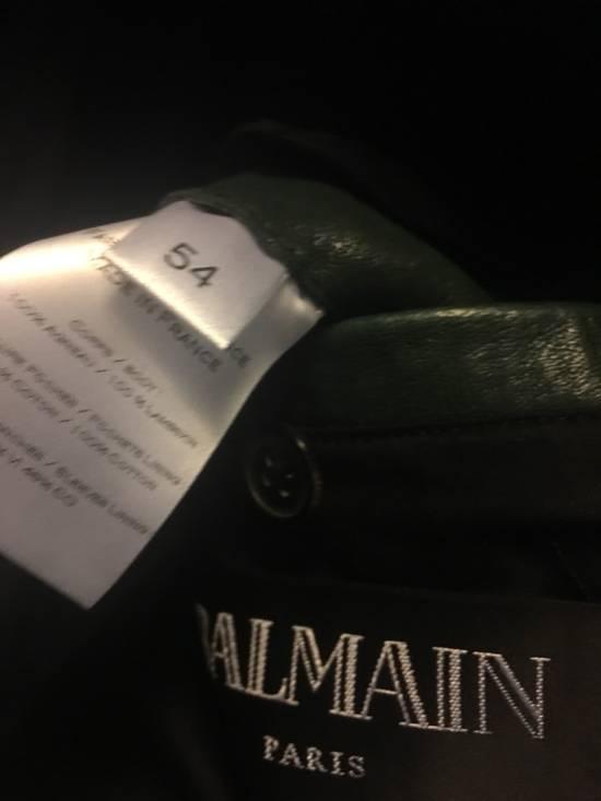 Balmain green leather jacket Size US XL / EU 56 / 4 - 4